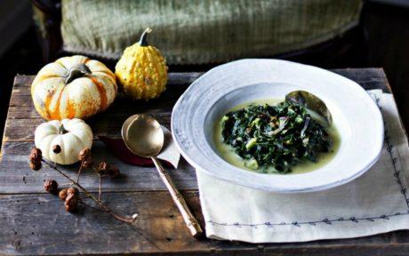 Coconut Milk Braised Collard Greens [Vegan, Gluten Free]