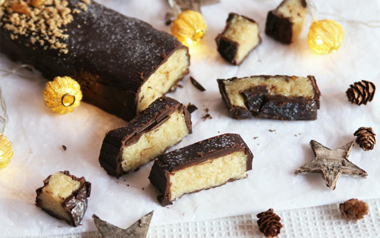 Dark Chocolate Marzipan Nougat [Vegan]