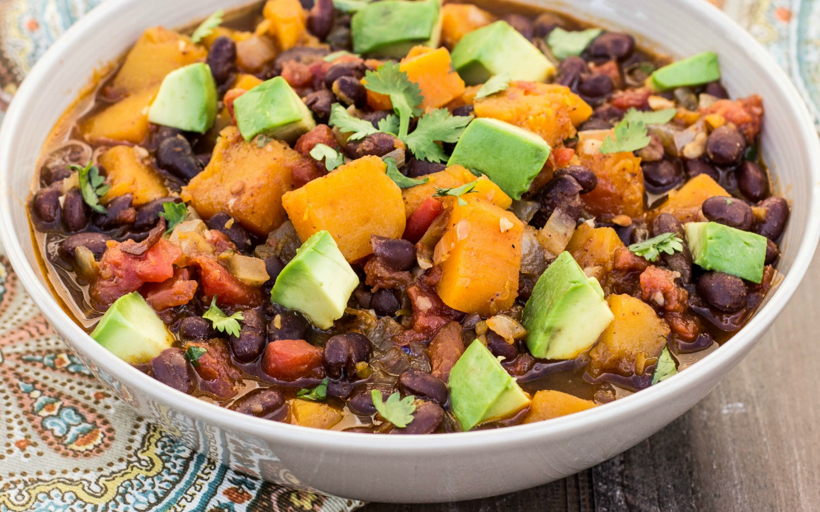 Vegan Butternut Squash and Black Bean Chili