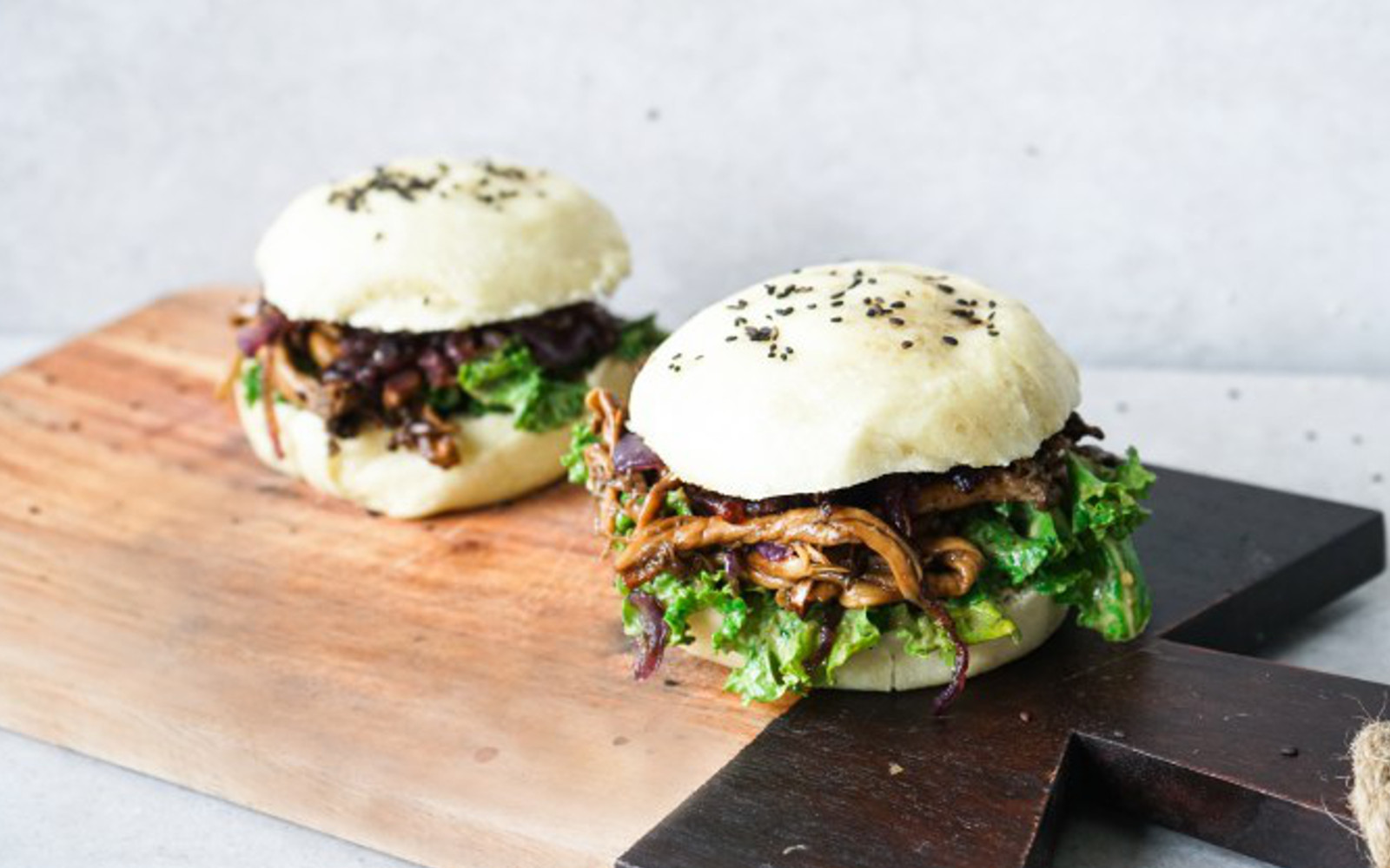 Pulled Oyster Mushroom Bao Burger Vegan Gluten Free One Green Planet