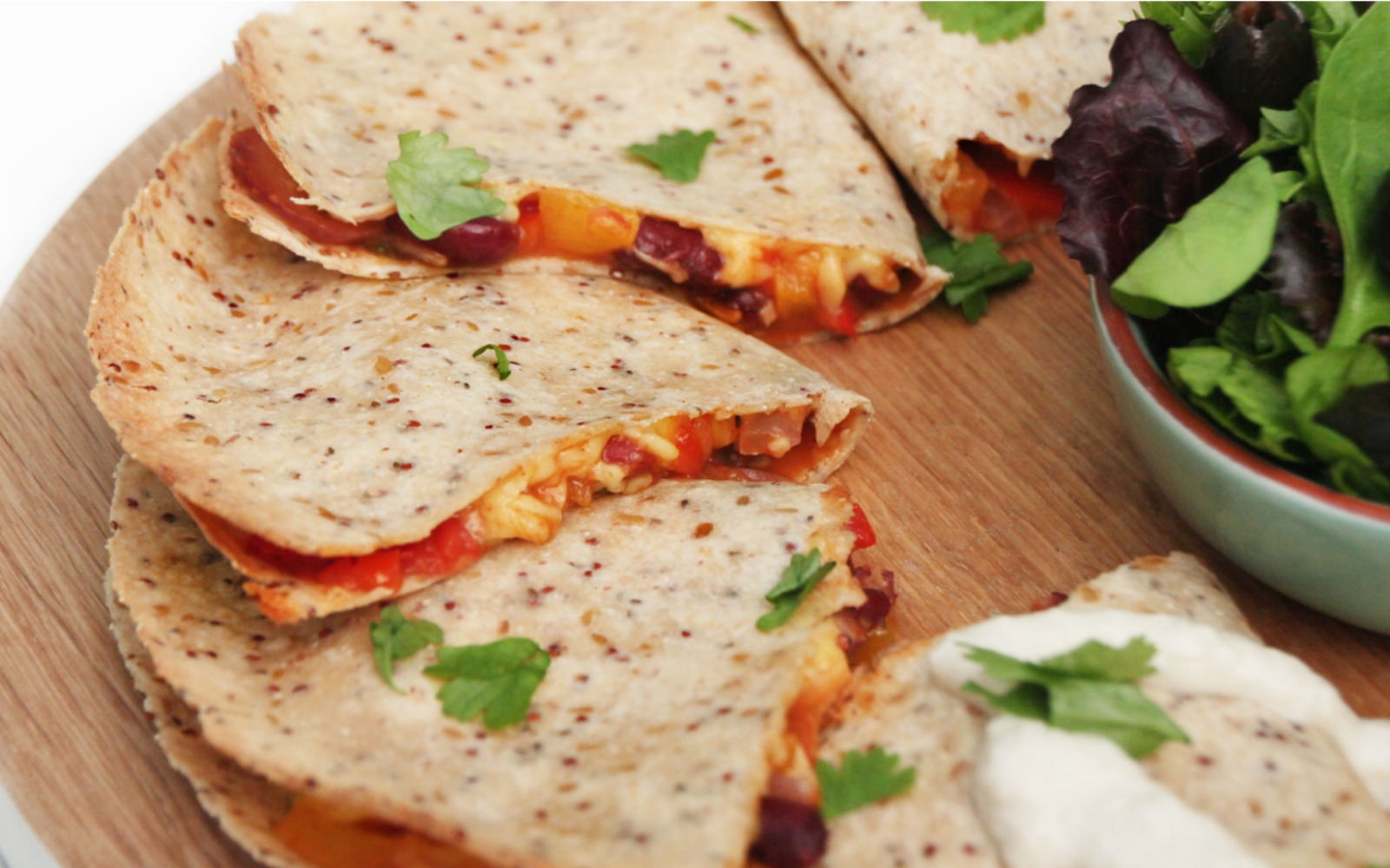 Spicy Quesadillas [Vegan, Gluten Free]