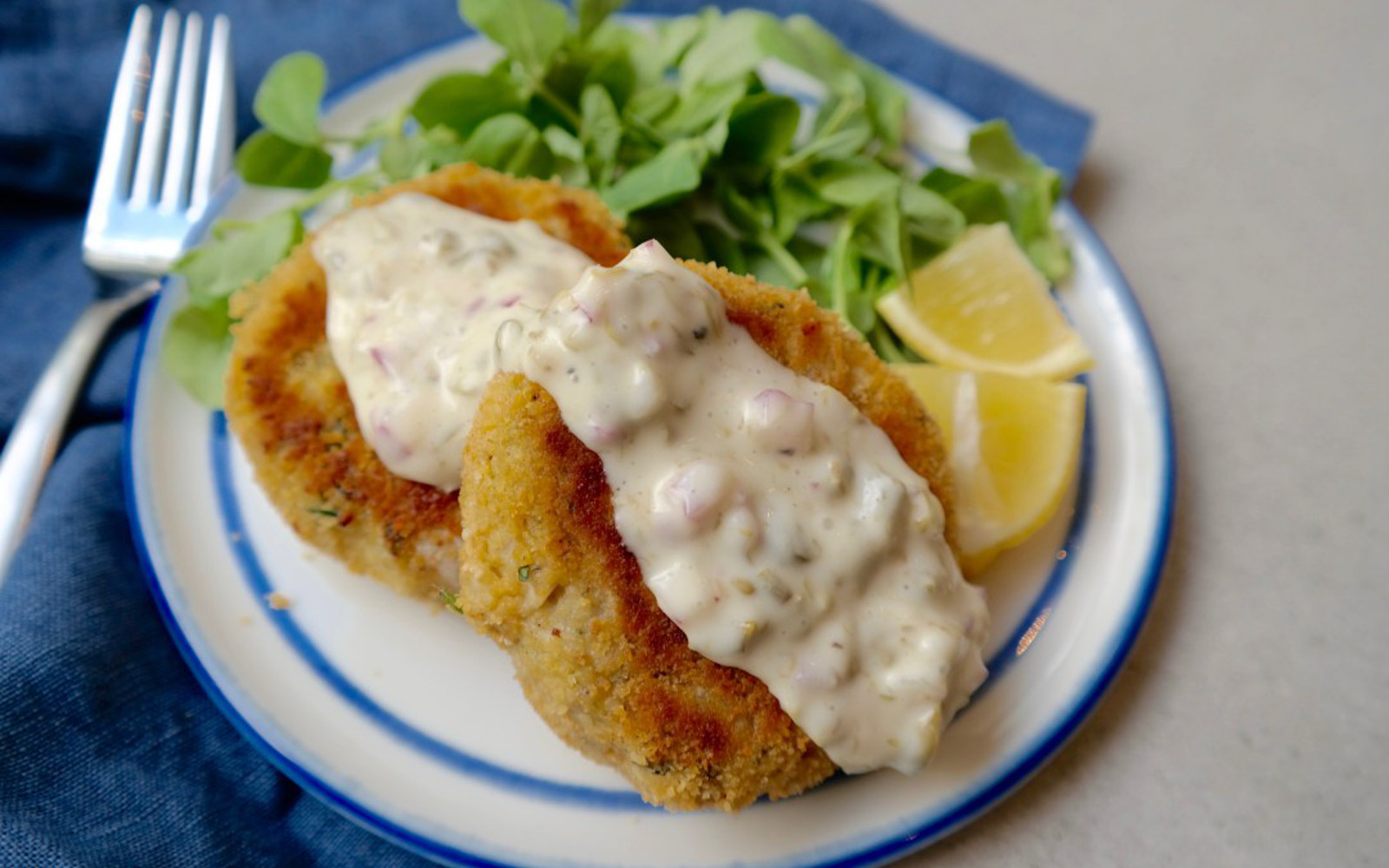 "Vegan ""Crab"" Cakes With Homemade Tartar Sauce"