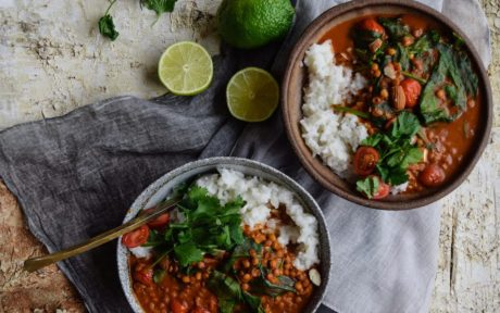 Sweet and Spicy Lentil Curry