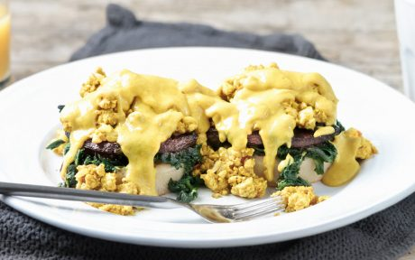 Tofu Benedict Florentine With Hollandaise