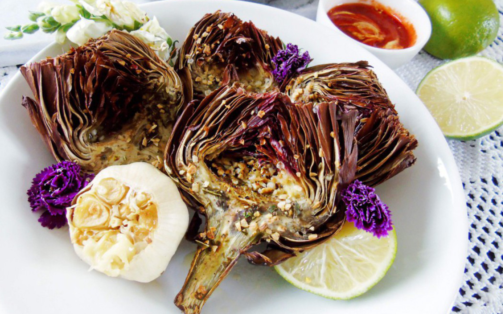 Whole Roasted Baby Artichoke