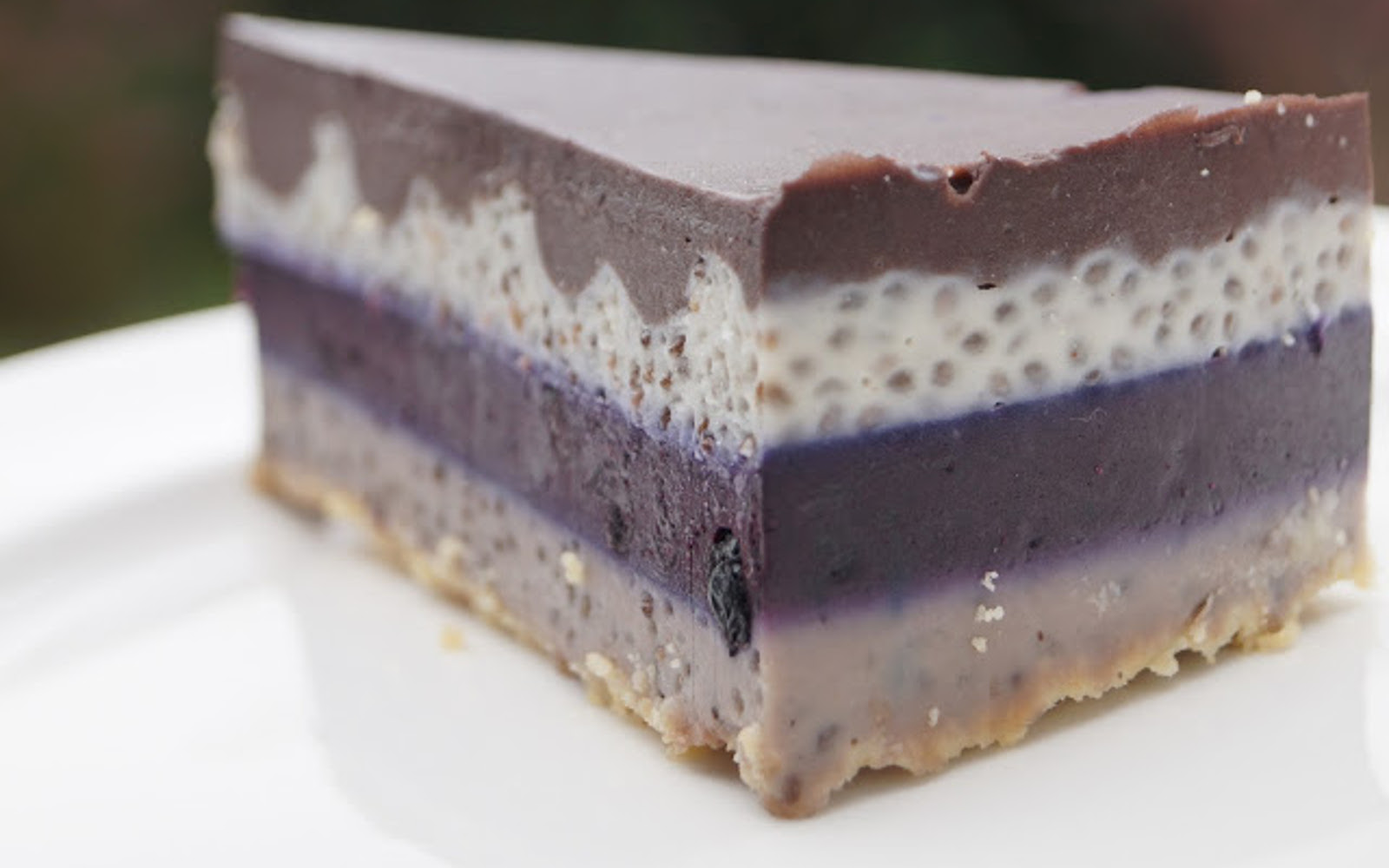 Blueberry Rainbow Chia Cake