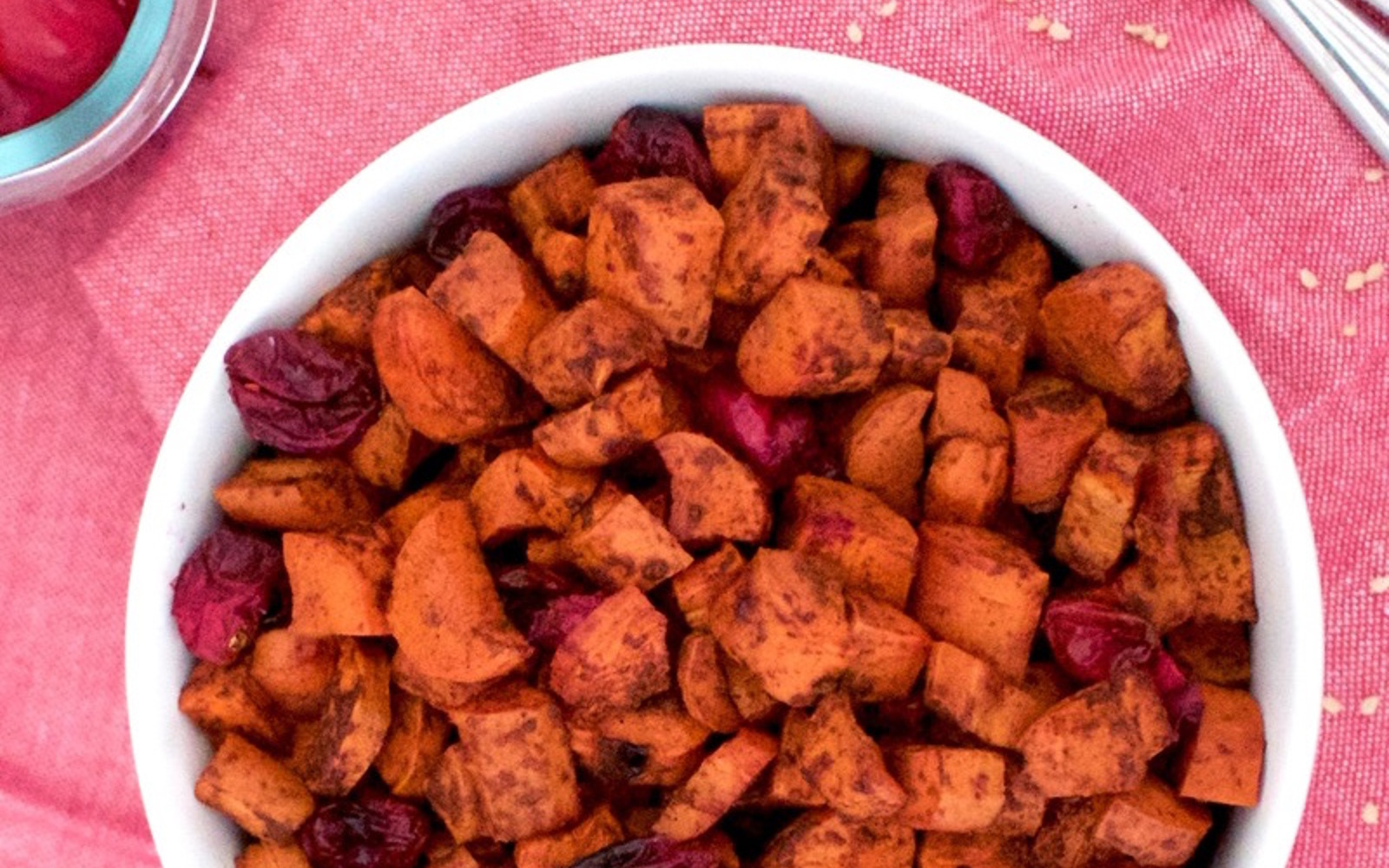 Cinnamon Roasted Carrots and Cranberries