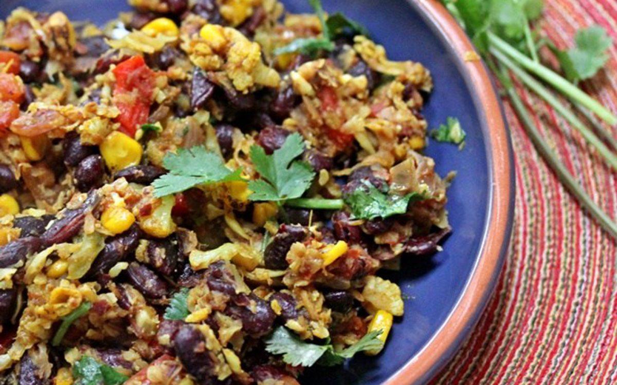 Vegan Rajma Pulao With Cauliflower Rice