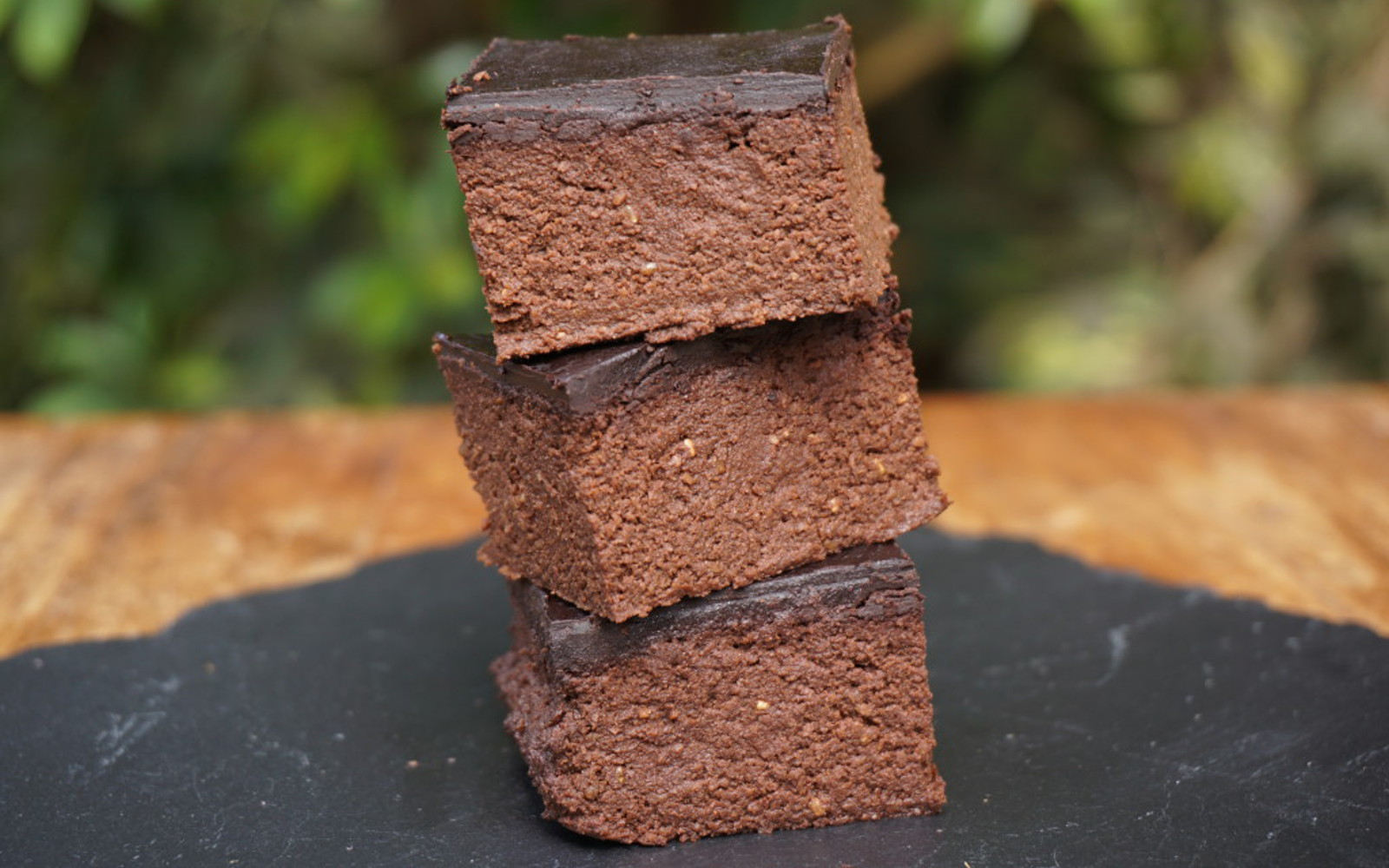 Healthy Zucchini Chocolate Squares