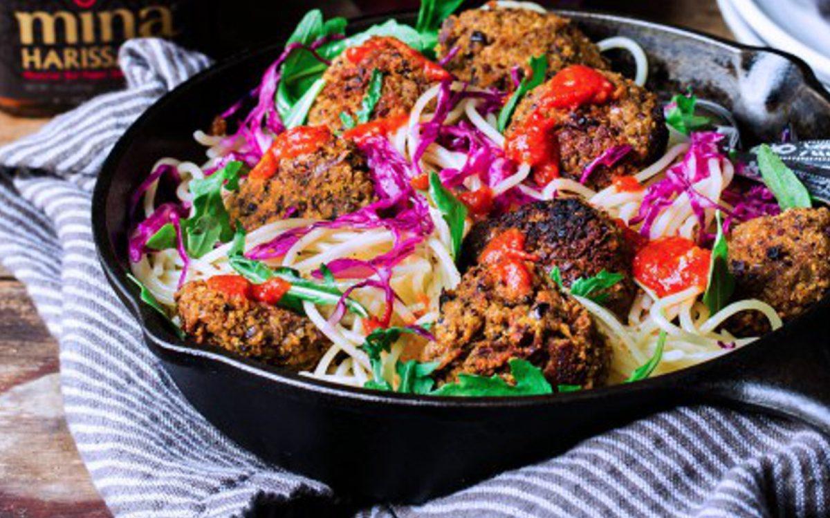 Harissa Lentil Quinoa Meatballs