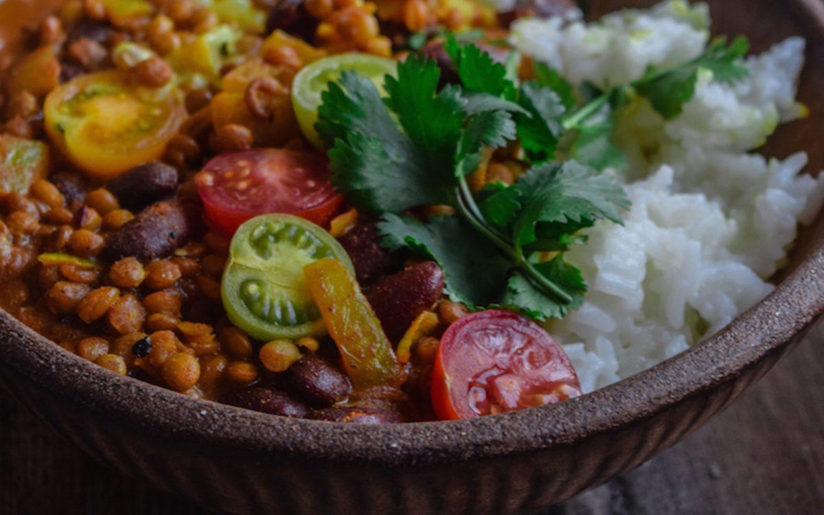 Kidney Bean And Lentil Curry Vegan Gluten Free
