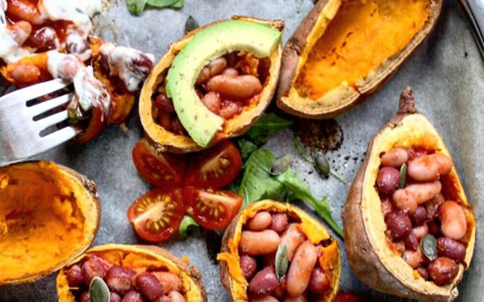 Loaded Mexican-Style Sweet Potato Skins
