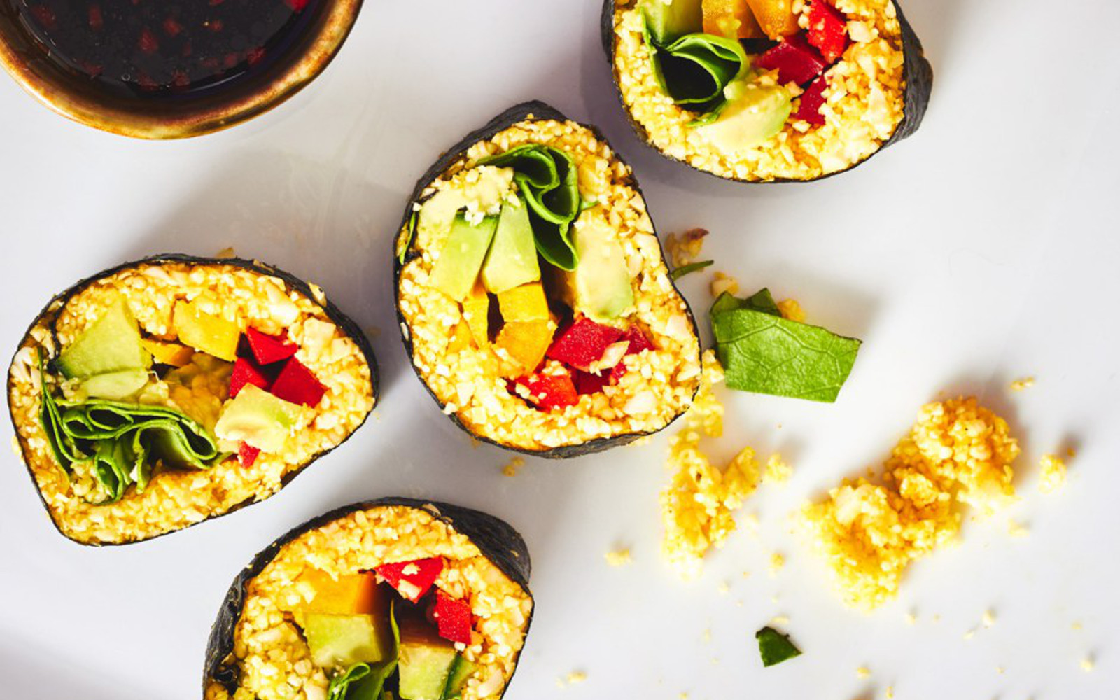 Turmeric Cauliflower Rice Sushi