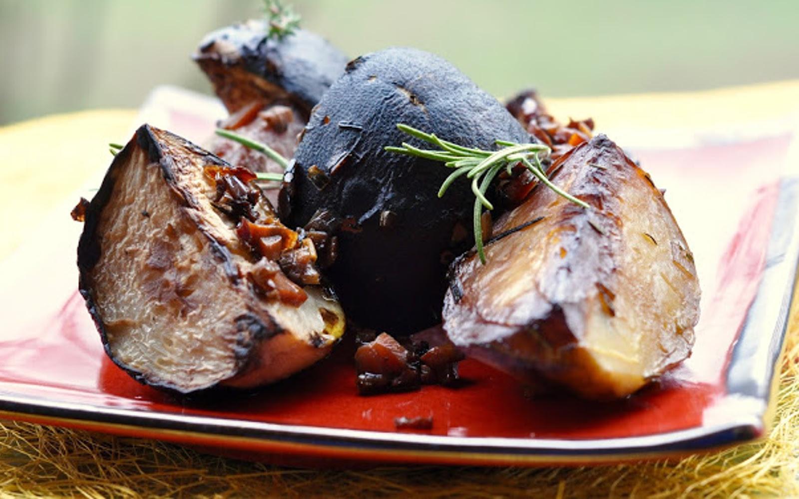 Red Wine Braised Black Turnips With Horseradish