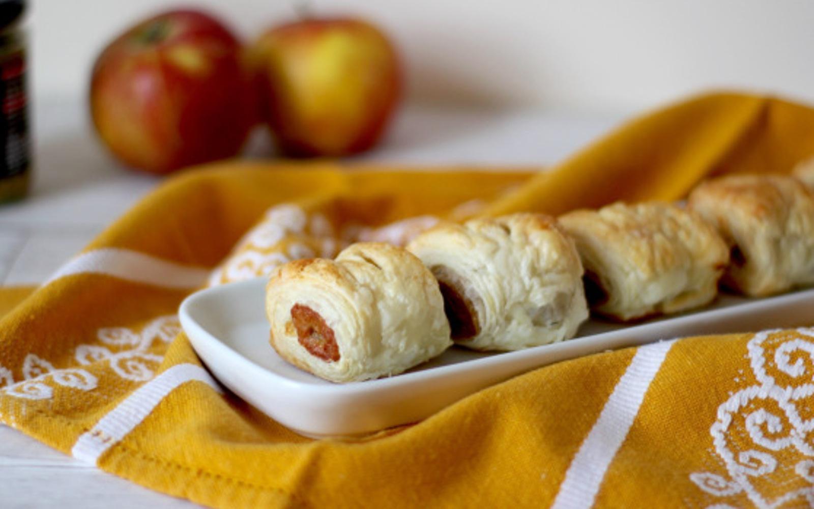 Vegan 'Pork' and Apple Sausage Rolls