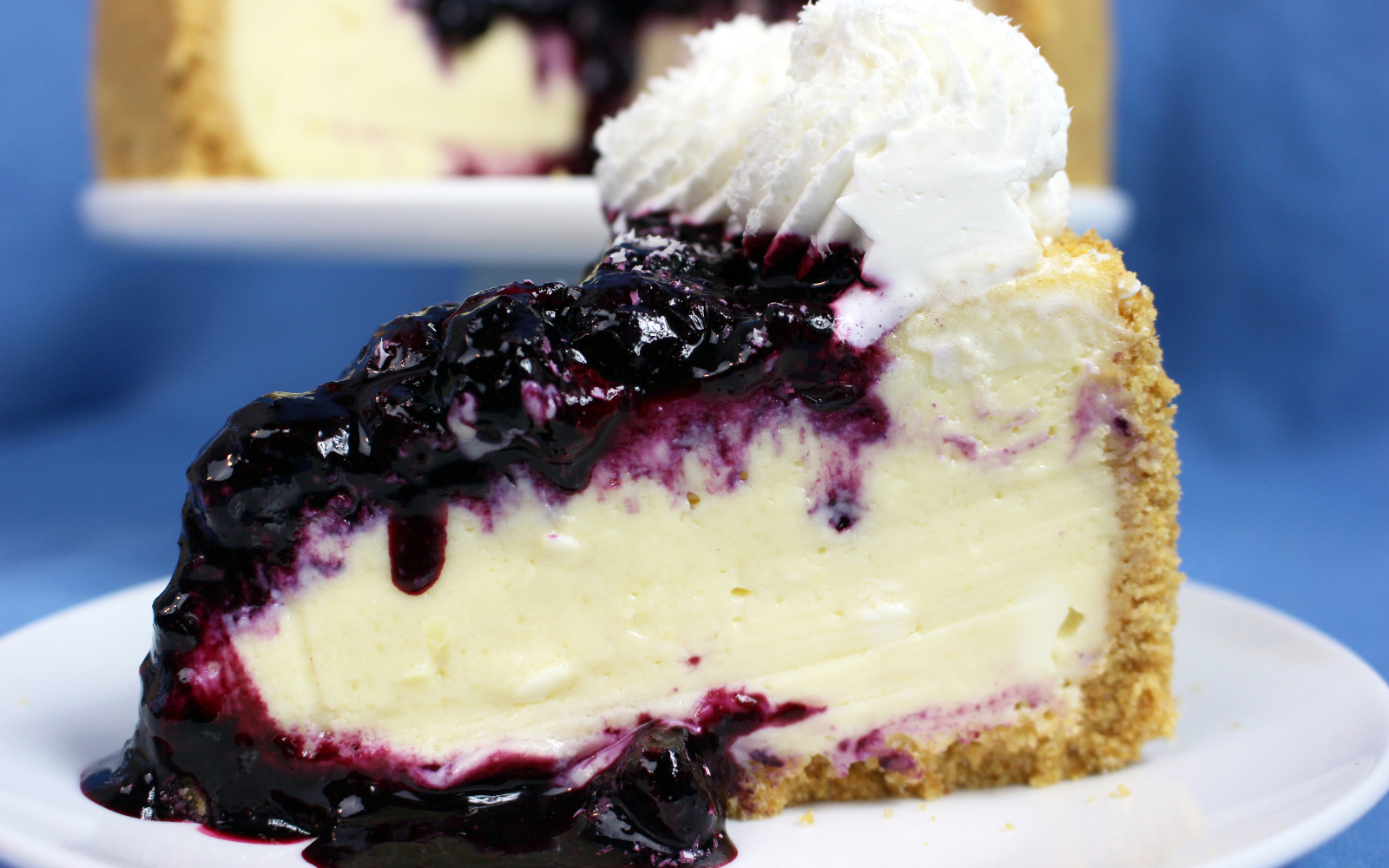 White Chocolate Blueberry Cheesecake [Vegan]