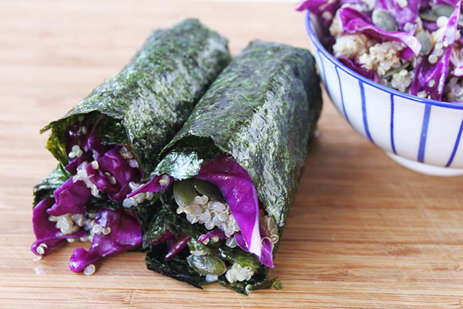 Red Cabbage Sushi Wraps