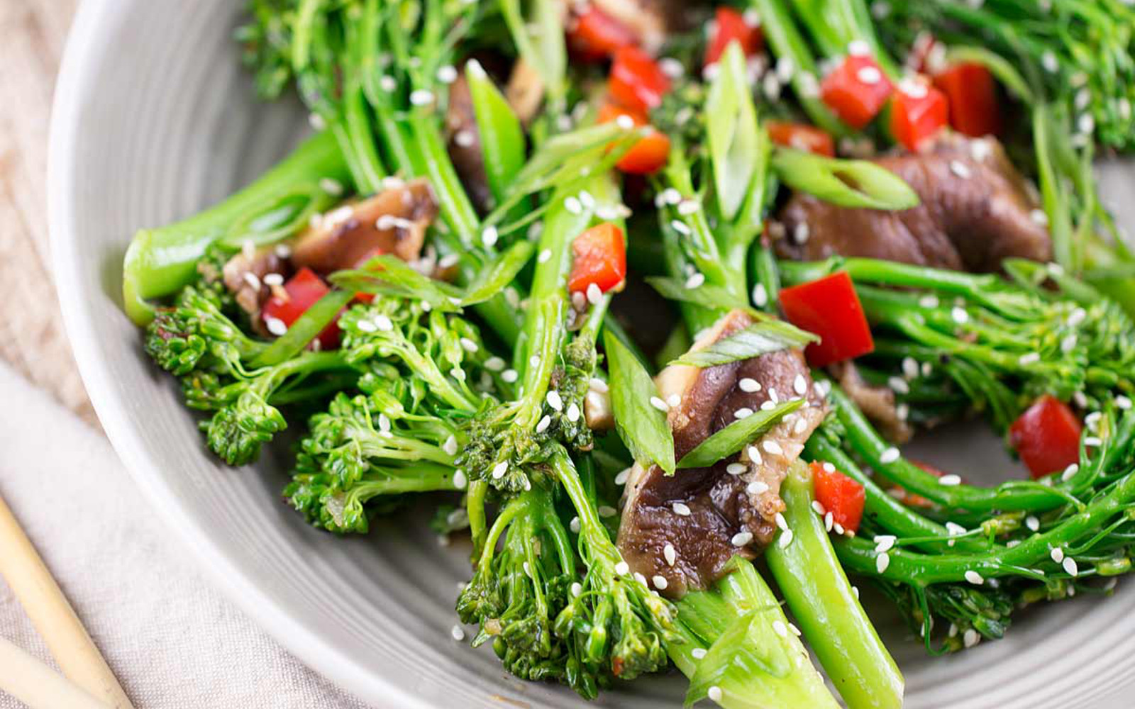 Broccolini and Shiitake Stir Fry