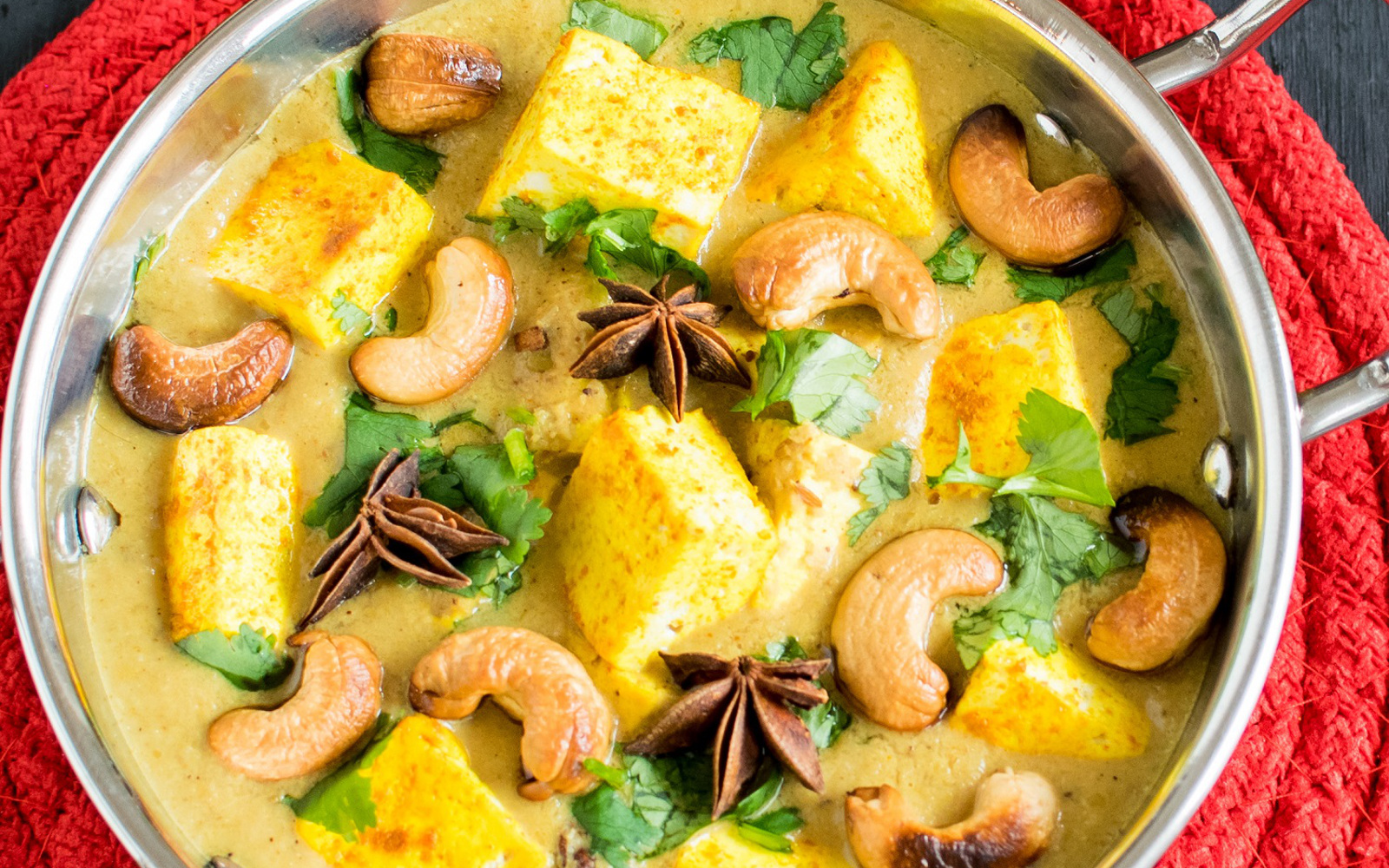 Turmeric Tofu Cashew Curry