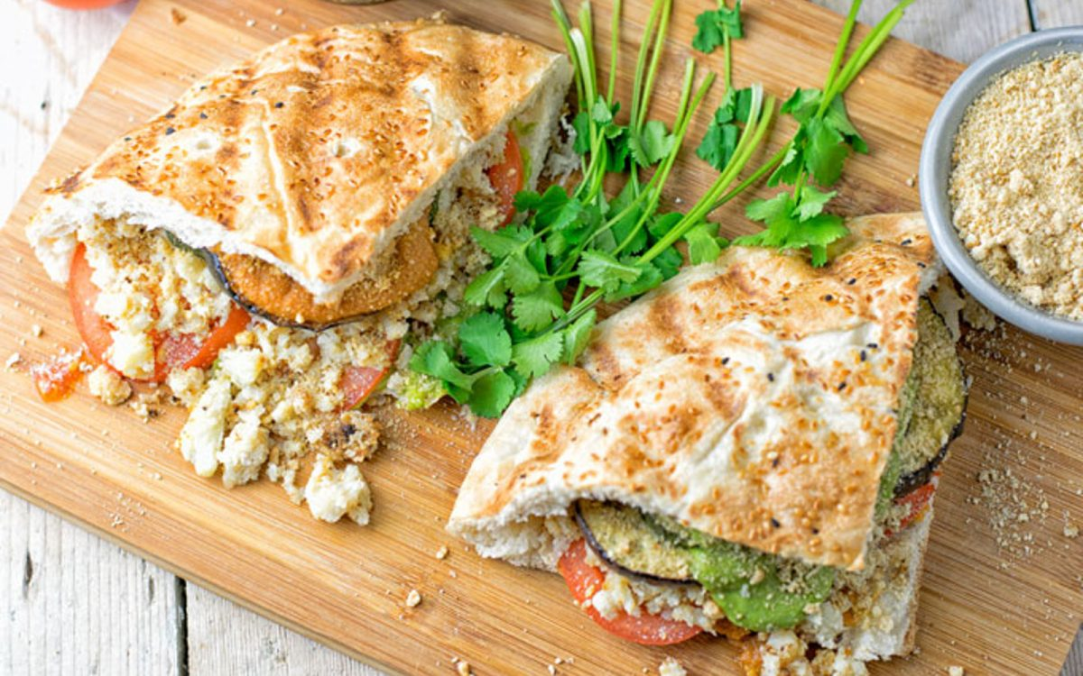 Vegan Cauliflower Rice Pesto Sandwich