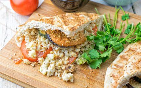 Cauliflower Rice Pesto Sandwich
