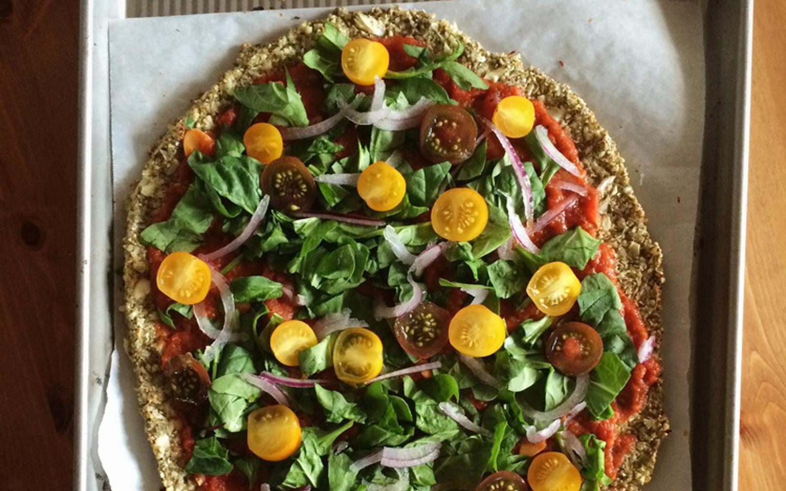 Cauliflower and Pepita Crust Pizza