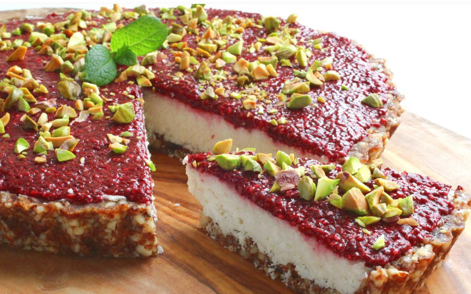Coconut Tart With Chia Cherry Jam