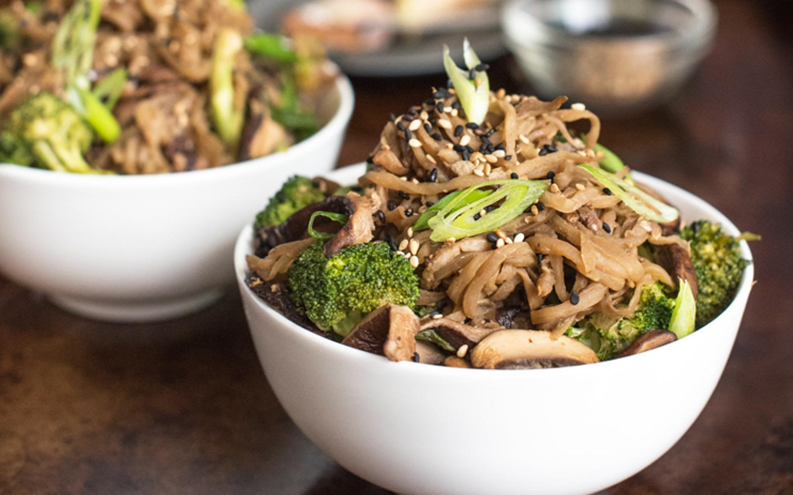 Eggplant Noodle Chow Mein