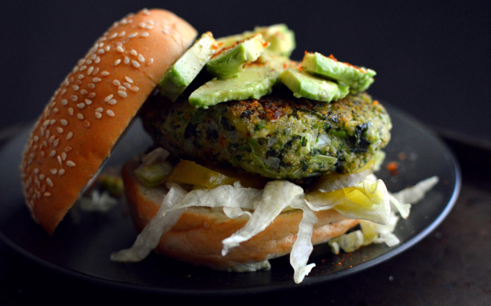 Green Vegetable Burger