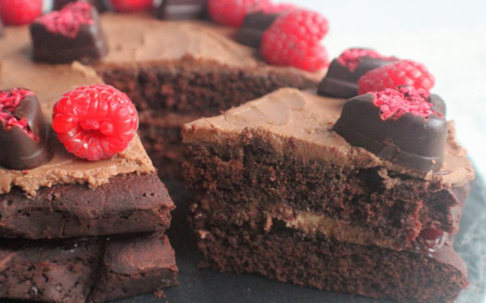 Chocolate Raspberry Beet Cake