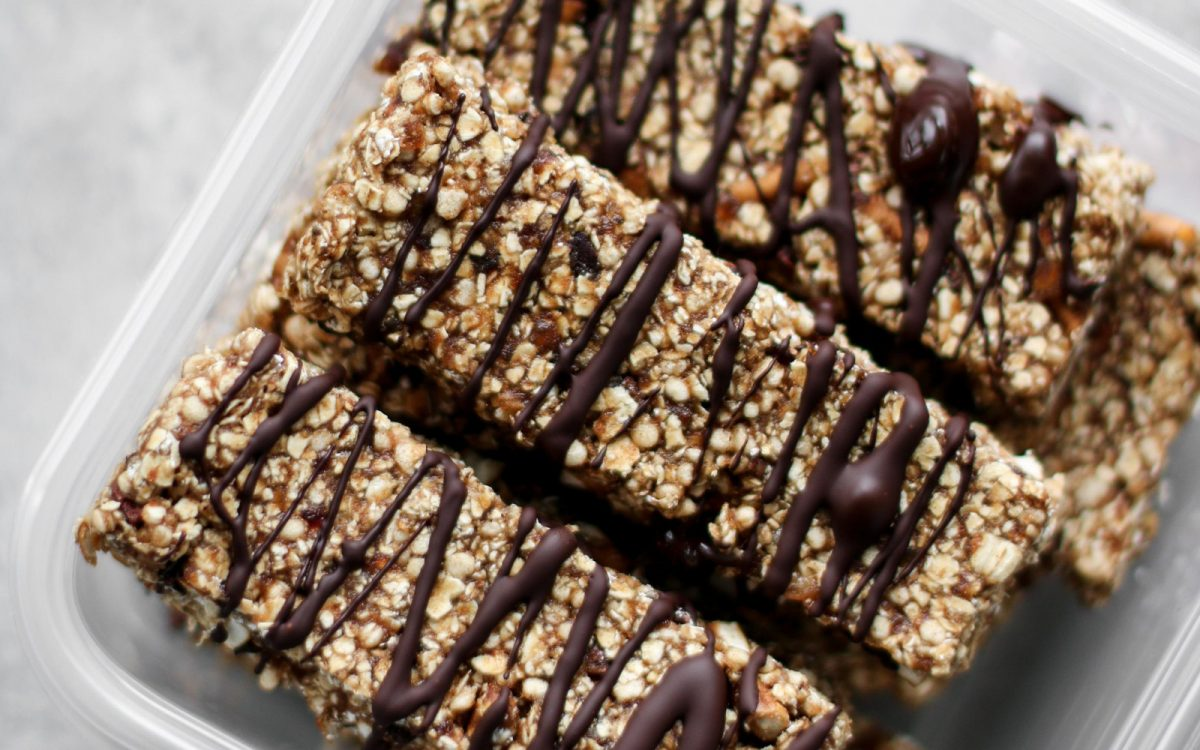 Vegan Chocolate Pretzel Quinoa Bars