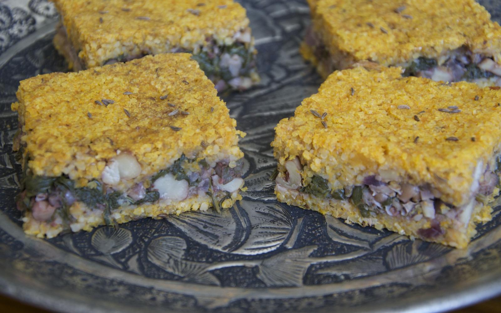 Kibbeh Lebanese Meatloaf