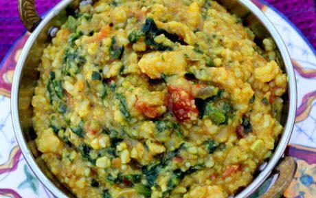Vegan GLuten-Free Masala Moong Dal Kitchari with vegetables
