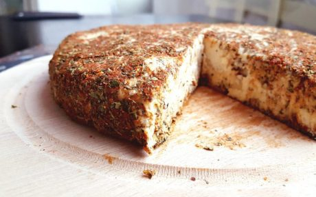 Raw Cashew Almond Cheese b