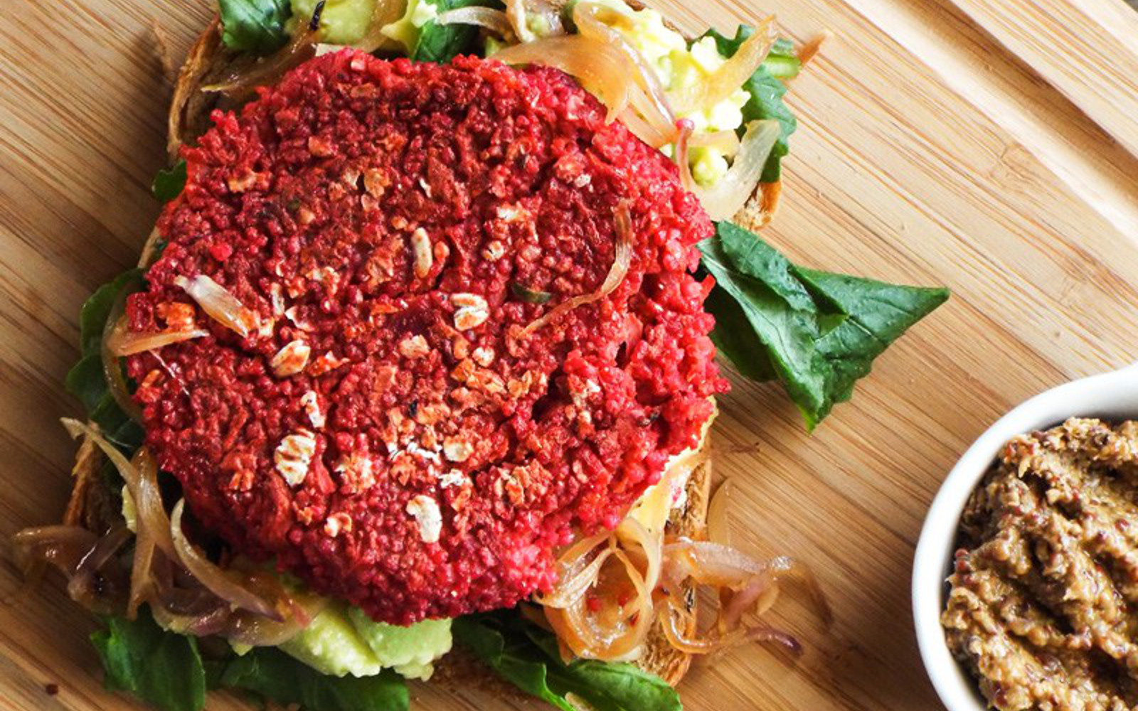 Spiced Beet and Carrot Burger