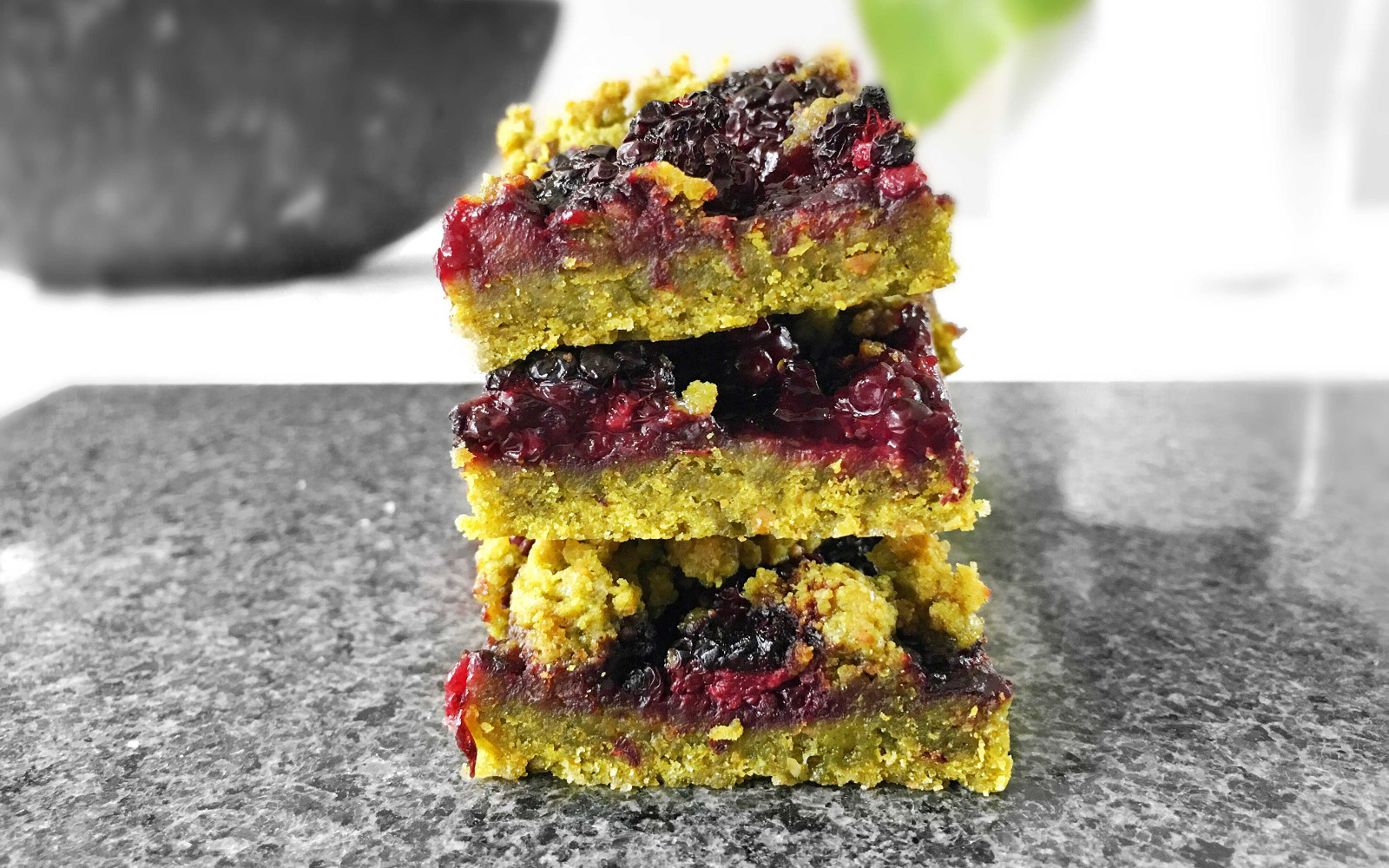 Superfood Blackberry Crumble Bars