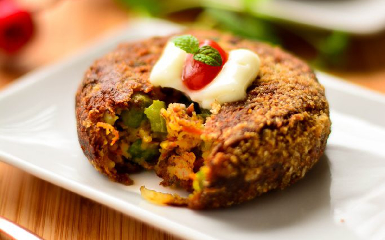 Veggie Cutlets With Flax and Oats c