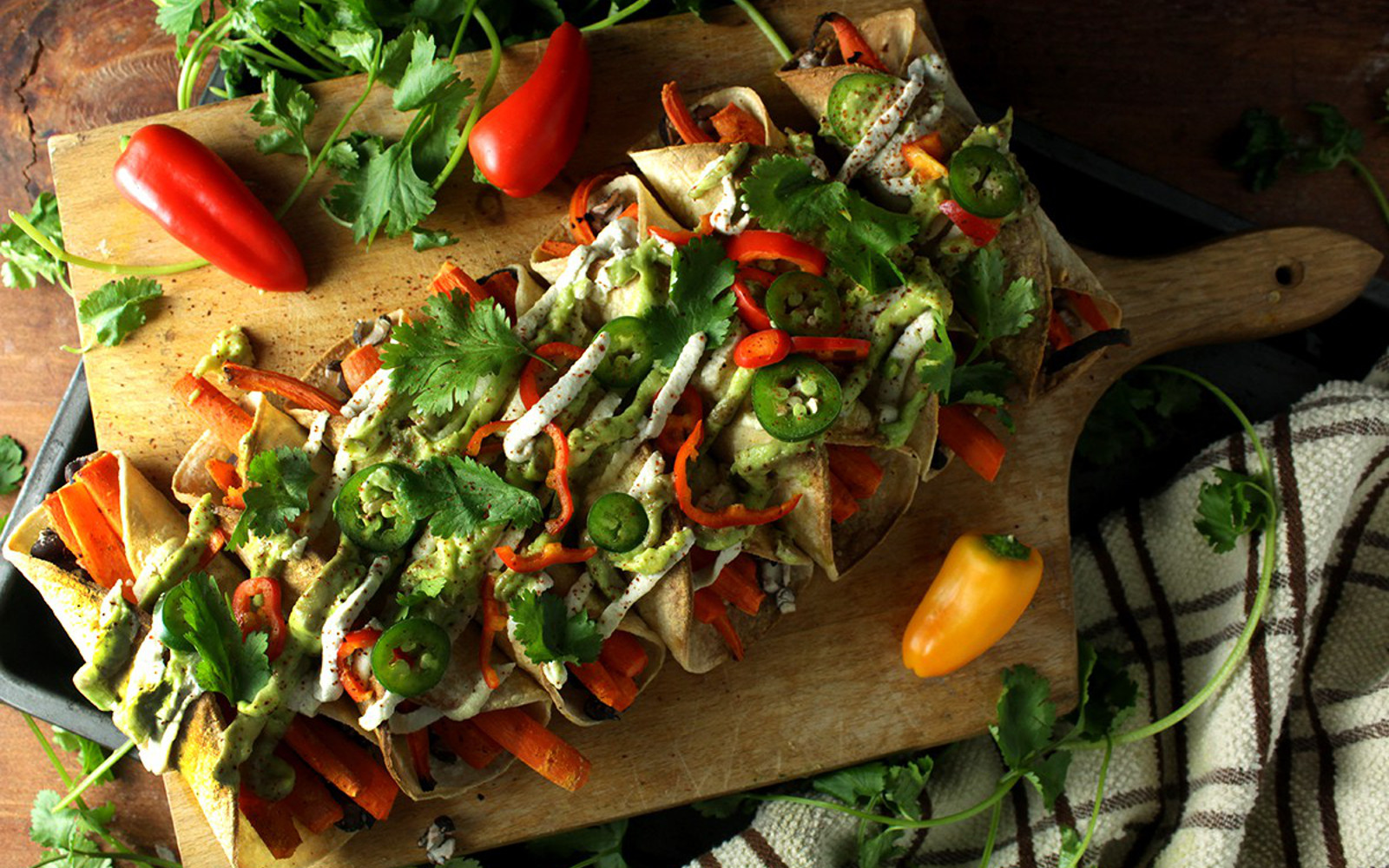 Black Bean and Roasted Carrot Tauquitos