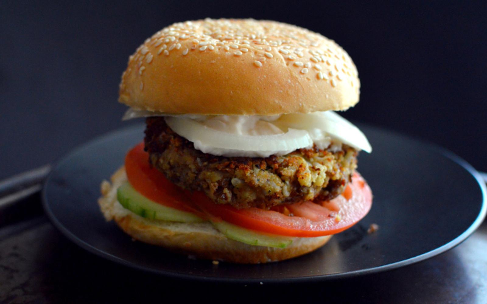 Cauliflower Lentil Burger