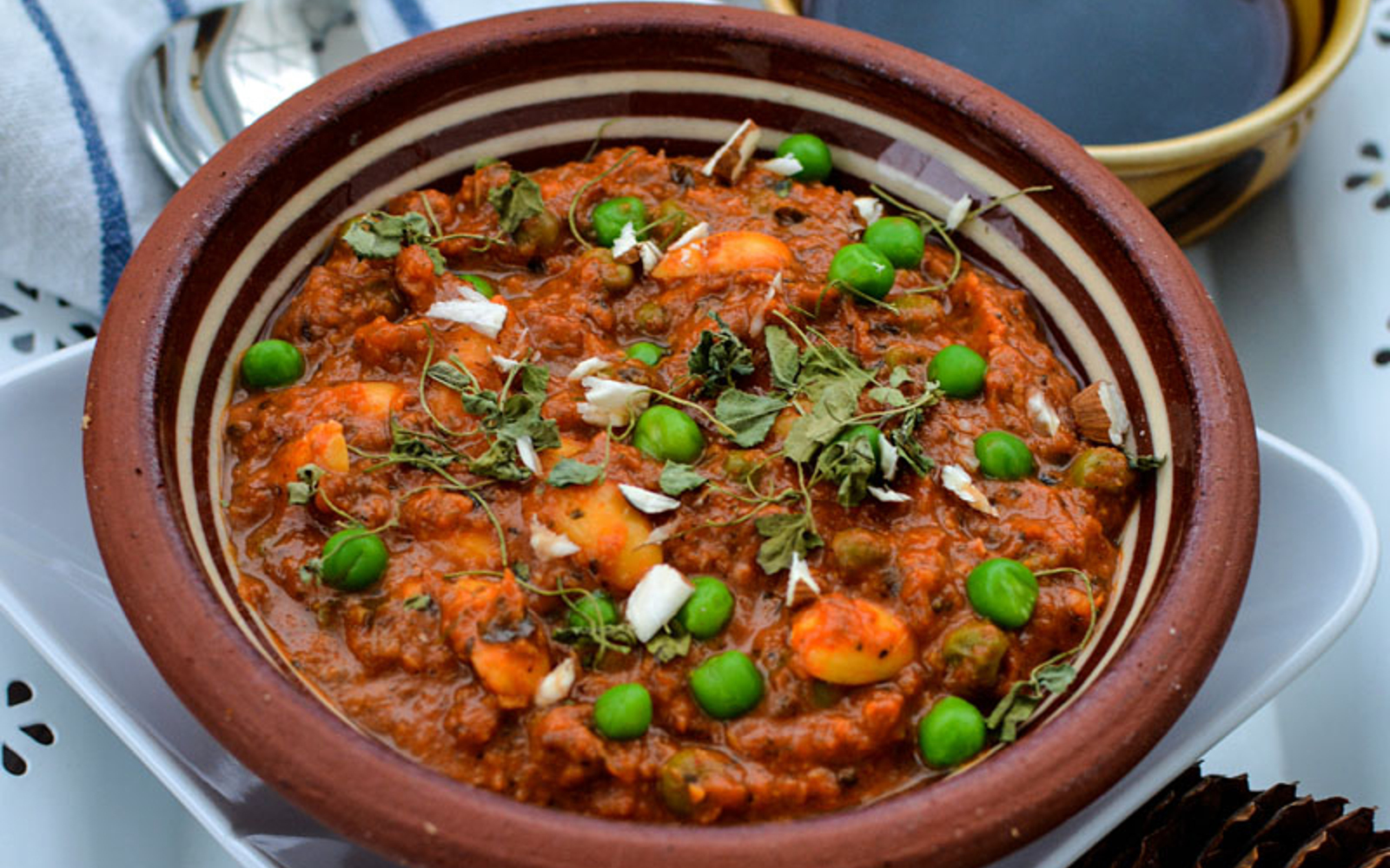 Almond Peas Curry
