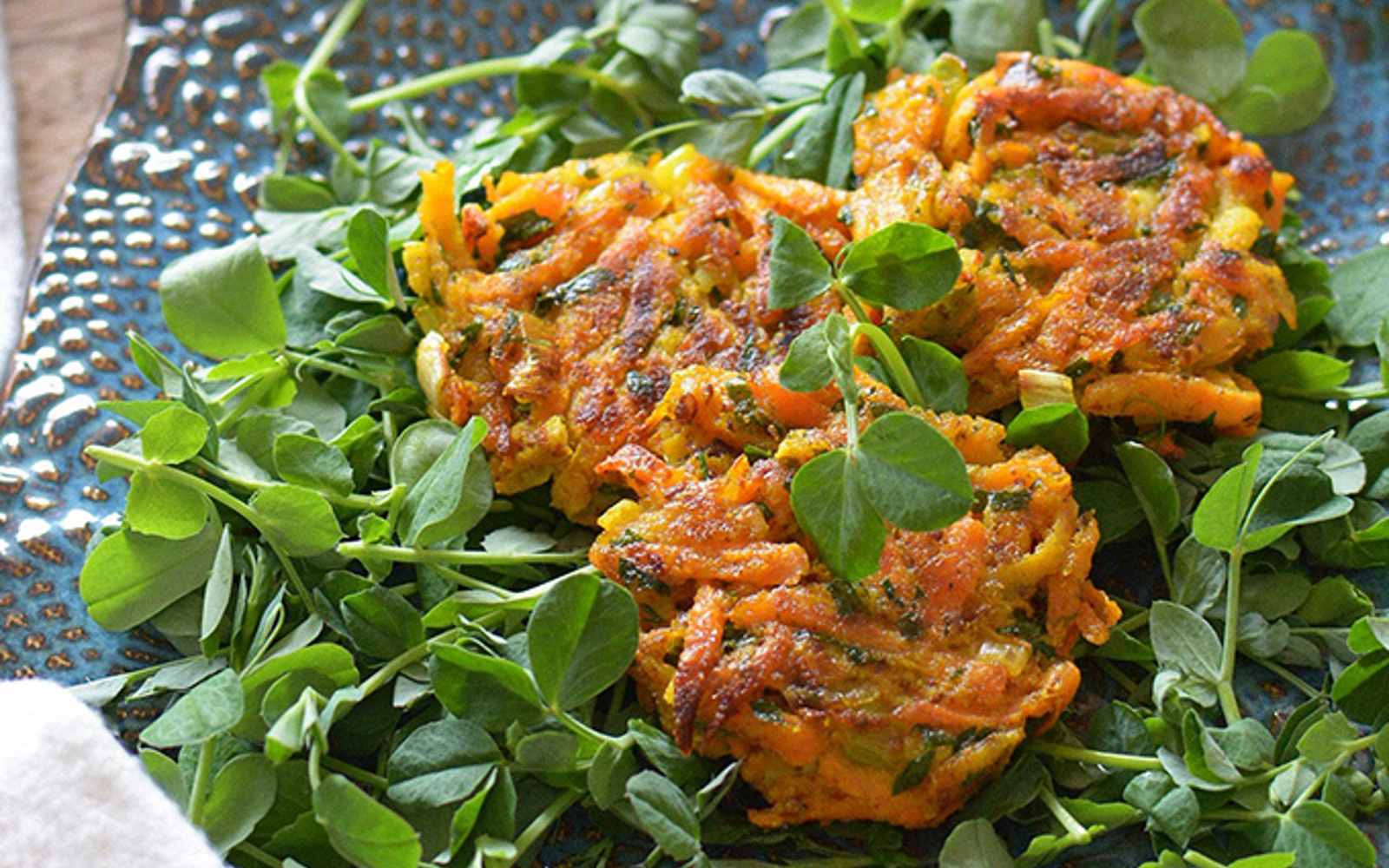 Carrot Fritters With Tahini Yogurt Sauce