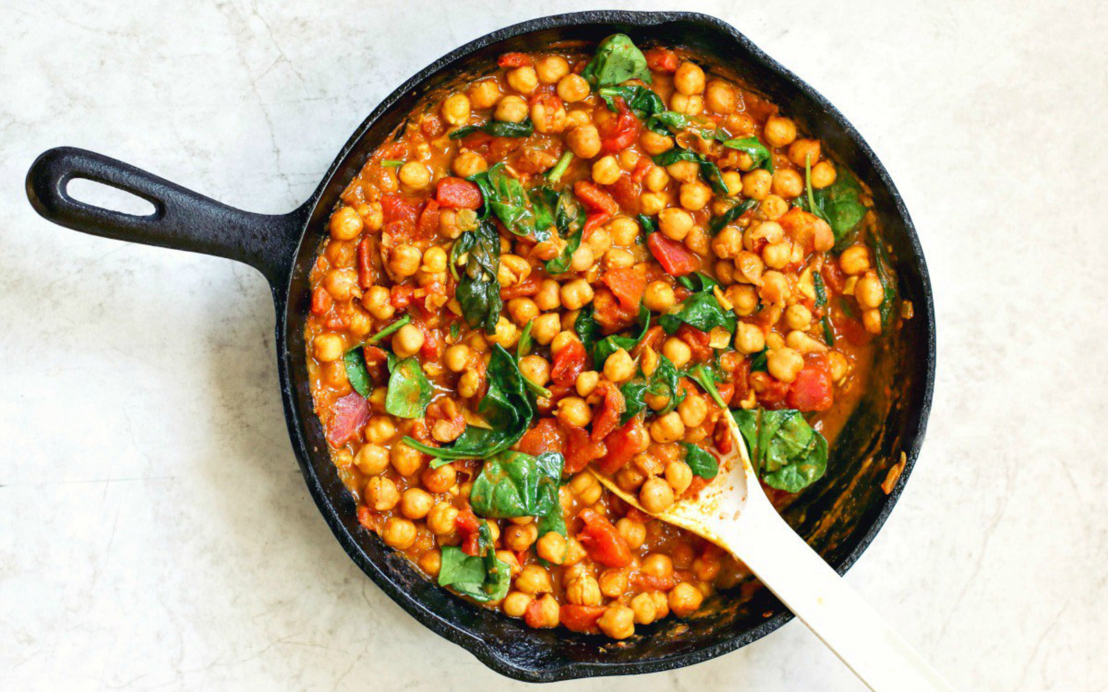 20-Minute Spinach and Chickpea Curry