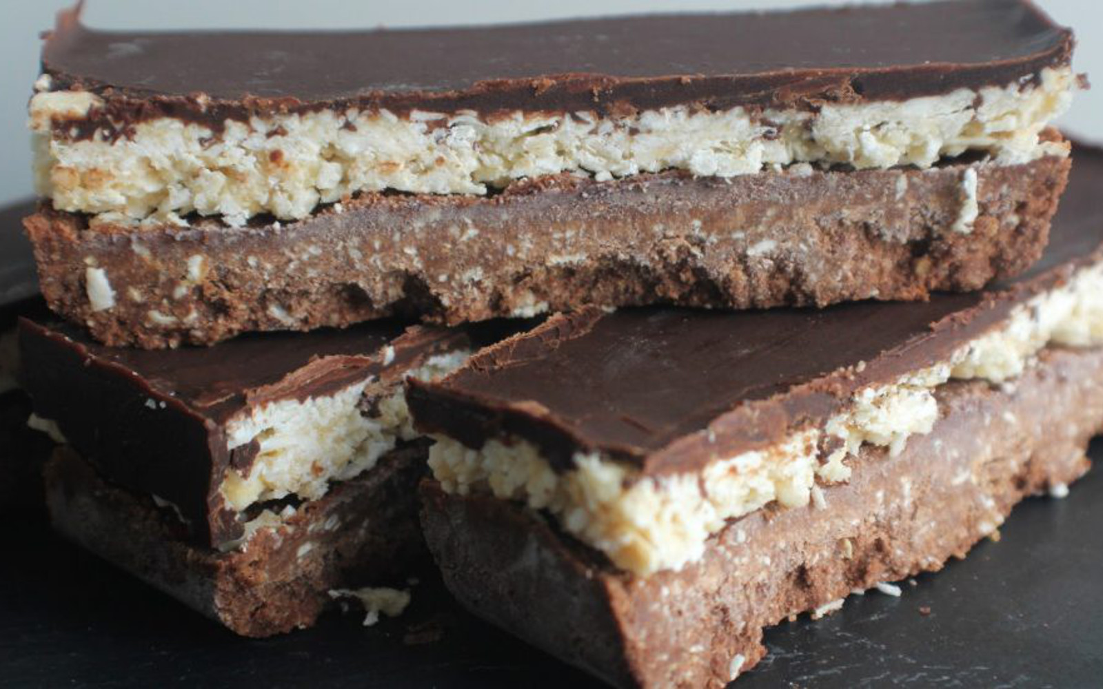 Chocolate and Coconut Protein Bounty Bars