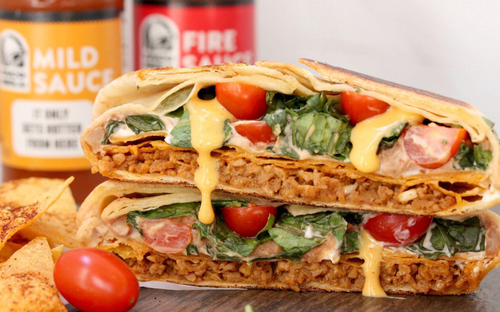 Copycat Crunchwrap Supreme, vegan junk food