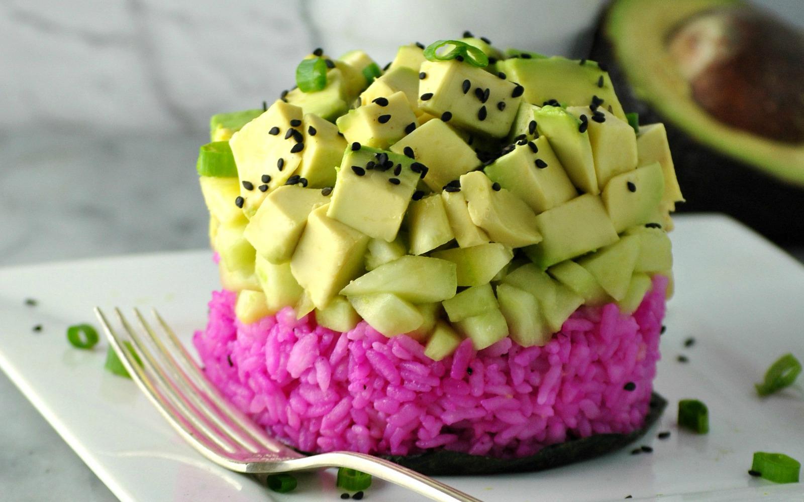 Sushi Rice Stacks