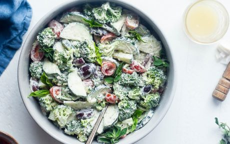 Greek Healthy Broccoli Salad