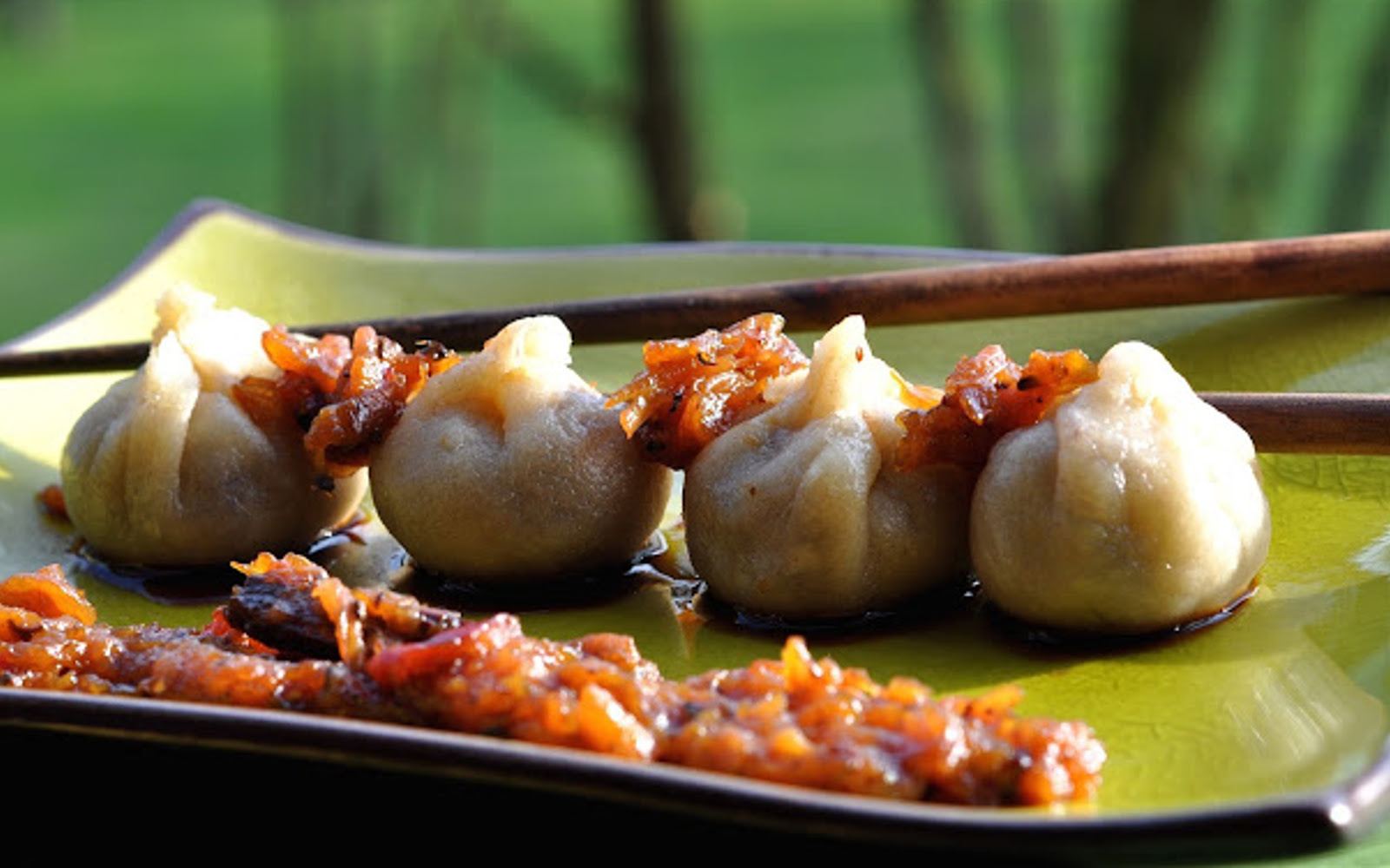 Vegan Momo: South Asian Dumplings With Apple Chutney