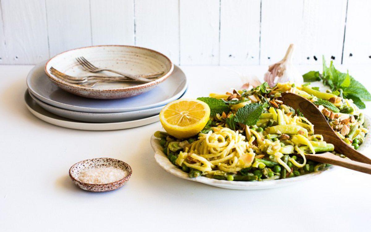 Vegan One-Pan White Wine and Preserved Lemon Pasta