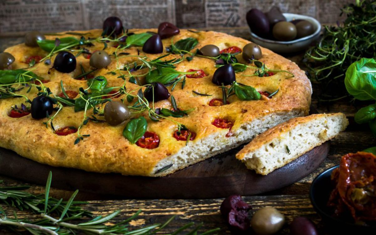 Vegan Oat and Quinoa Focaccia Bread