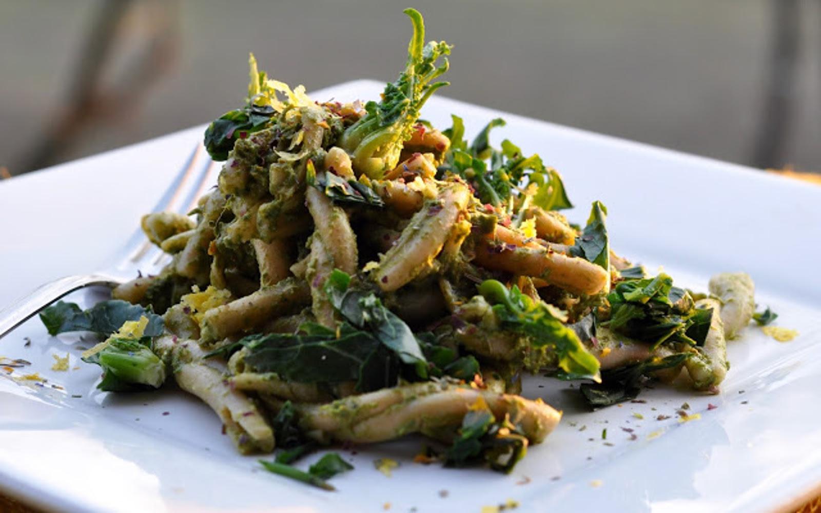 Pasta With Broccoli and Bean Pesto